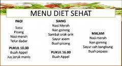 Contoh Menu Diet Sehat
